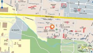Карта на заложна къща в кв. Изток гр. Перник