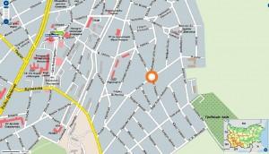 Карта на заложна къща в Радомир
