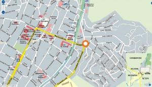 Карта на заложна къща в Сандански